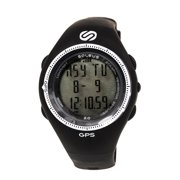 SG002-004 Men's GPS 2.0 Runners Speed White Accent Bezel Chronograph Black Rubber Strap Digital Grey Dial Watch