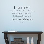 Belvedere Designs LLC Quotes  I Believe CS Lewis Wall Decal (Set of 101)