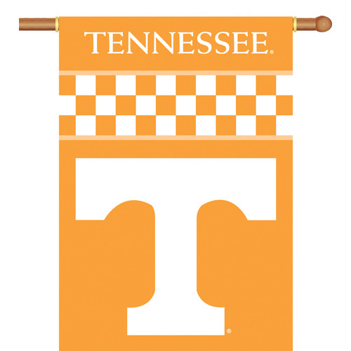 "BSI PRODUCTS, INC.Tennessee Volunteers 2-Sided 28"" X 40"" Banner W/ Pole Sleeve - Collegiate / College / NCAA Licensed #96101"