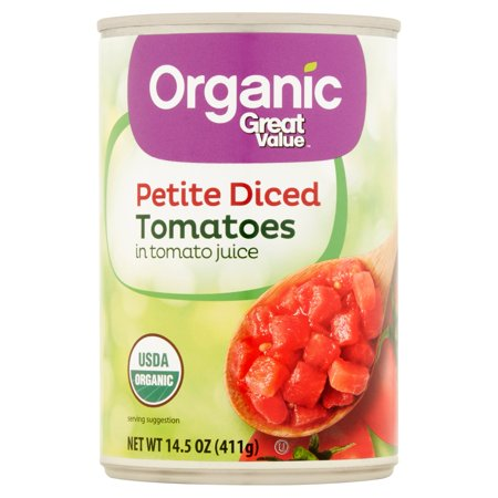 Organic Diced Tomatoes - Great Value Organic Petite Diced Tomatoes, 14.5 oz