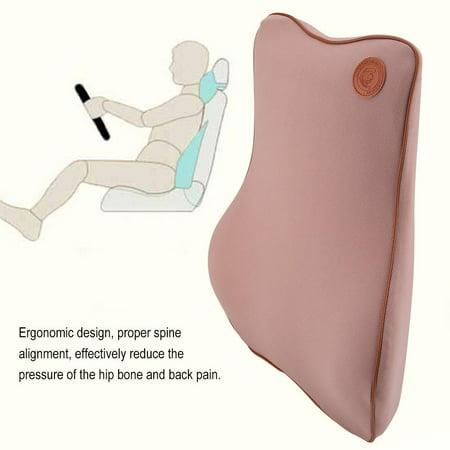 Knifun Car Office Seat Chair Memory Foam Lumbar Back Support Cushion Pillow, Lumbar Support Cushion, Back Support Cushion