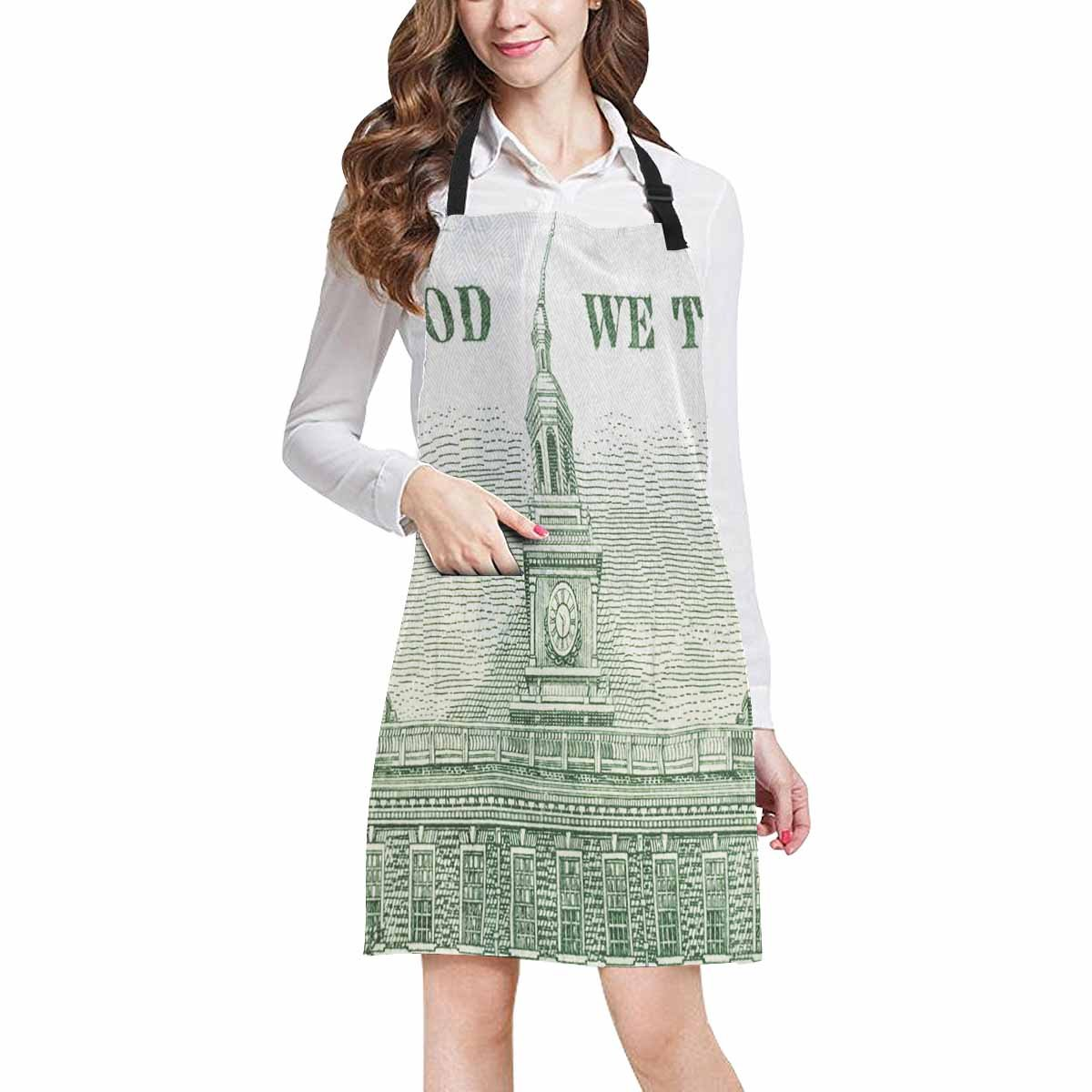Hatiart In We Trust And Independence Hall With Us Dollar Bill Chef Kitchen Apron Adjustable Strap Waist Ties Front Pockets Perfect For Cooking Baking Barbequing Walmart Canada
