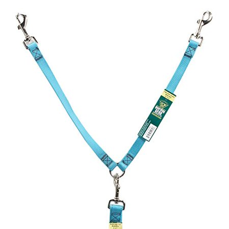Gear Nylon 2-Way Large Dog Coupler with Nickel Plated Swivel Clip, 24-Inch, Mailbu Blue, 2-way dog coupler is the easy way to walk 2 dogs on the same.., By (Guardian Easy Track)