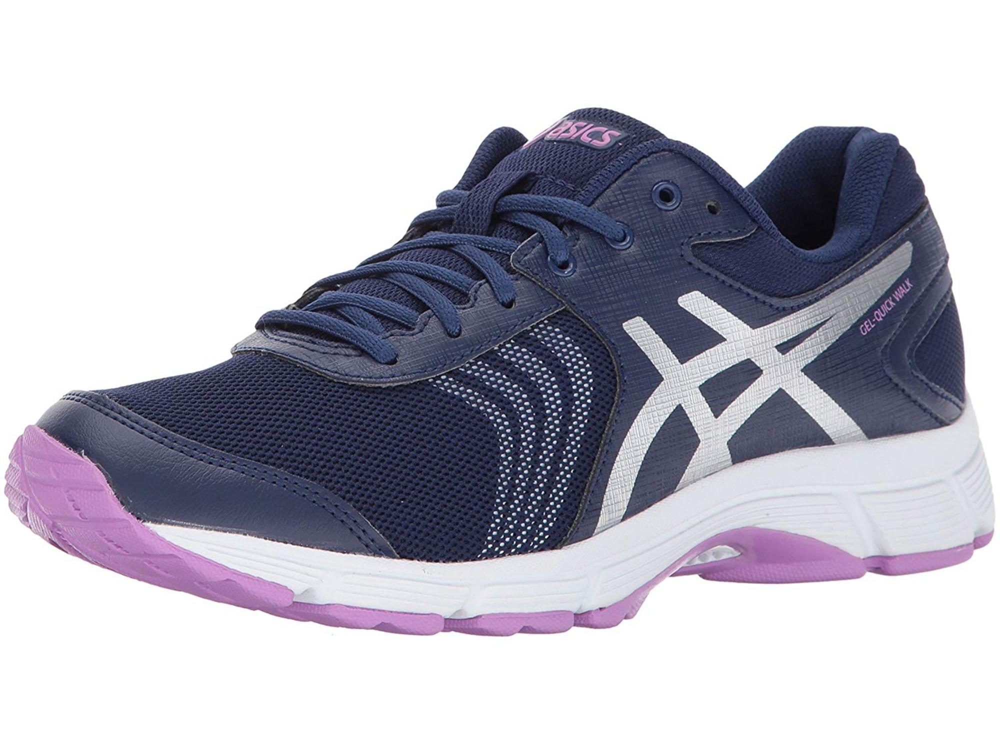 ASICS Asics Womens Gel Quickwalk 3 Walking Shoe, Indigo BlueSilverViolet, Size 11.0