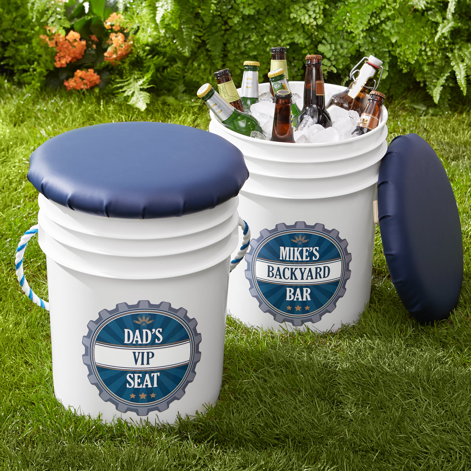 Personalized Sit and Sip Beverage Bucket