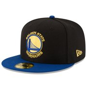 Golden State Warriors New Era Official Team Color 2Tone 59FIFTY Fitted Hat - Black/Royal