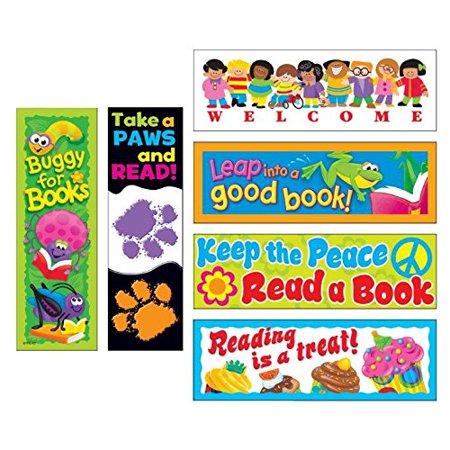 TREND T12906 Bookmark Combo Packs, Celebrate Reading Variety 1, 2w x 6h, 216Pack - image 1 de 2