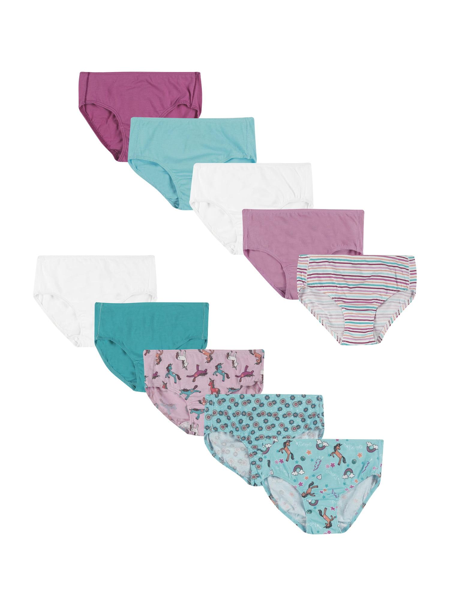 Hanes Toddler Girls' Tagless Cotton Briefs, 10-Pack