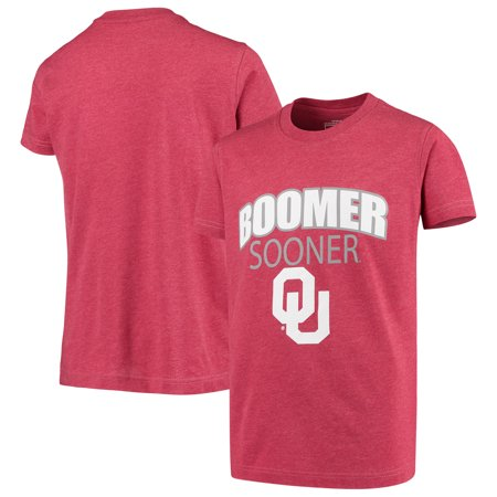 Oklahoma Sooners Colosseum Youth Bold Logo Chant T-Shirt - Heathered Crimson Bold Logo T-shirt