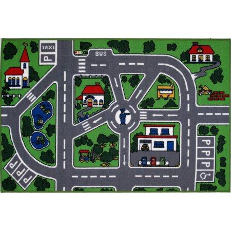 """Fun Rugs Streets Multi-Colored 39"""" x 58"""" Rug"""