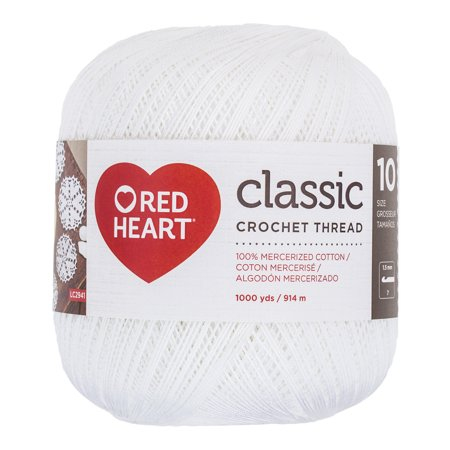 Red Heart Classic 10 White Yarn, 1 Each ()