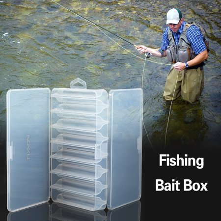 - 14 Compartment Fishing Bait Lure Hooks Box Bait Storage Case Fishing Tool Tackle Organizer Sorting Box