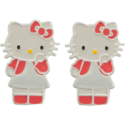 Ss Hello Kitty Full Body Enamel Stud