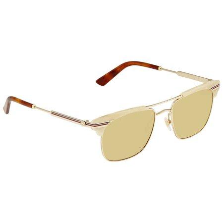 Gucci Brown Browline Men's Sunglasses GG0287S 005 52