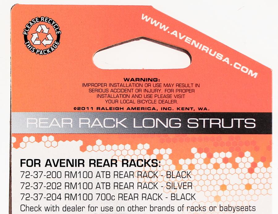 AVENIR Rear Rack Long Struts Steel for Rear Bike Bicycle Racks Silver NEW