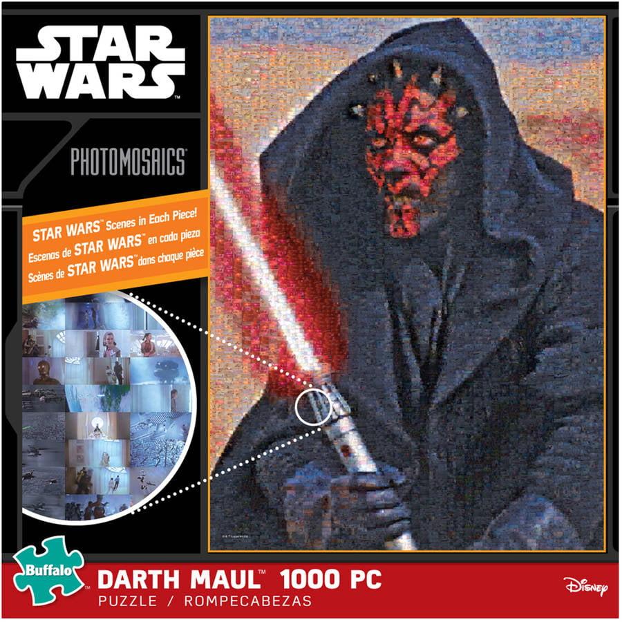 Star Wars Photomosaics Puzzle, Darth Maul, 1000 Pieces
