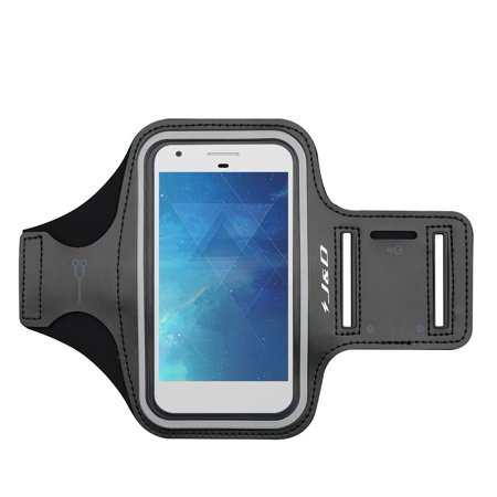 Pixel 2 XL 2017 Armband, J&D Sports Armband for Google Pixel 2 XL 2017, Key holder Slot, Perfect Earphone Connection while Workout Running - [Not Compatible with Google Pixel 2] (Running Goggles)