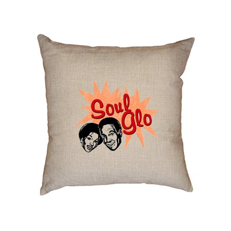 Fictitious Soul Glo Jerry Curl Hair Care Funny Iconic Decorative Linen Throw Cushion Pillow Case with Insert (Jerri Curl)