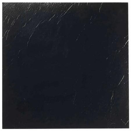 Achim Nexus Black 12x12 Self Adhesive Vinyl Floor Tile - 20 Tiles/20 sq.