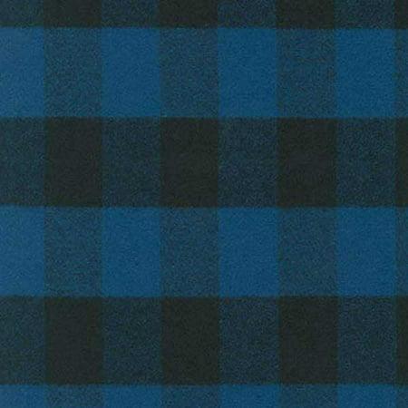 Robert Kaufman Fabrics Mammoth Woven Cotton Flannel Blue Buffalo Plaid ()