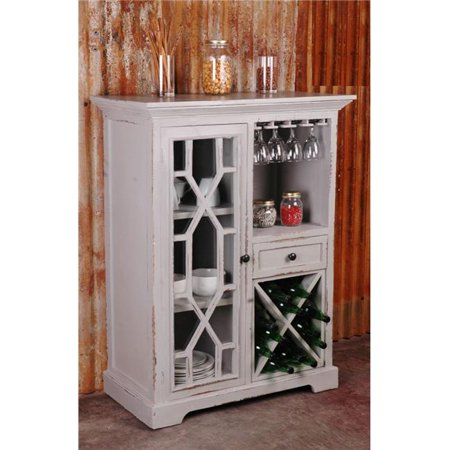 Sunset Trading CC-CAB1948LD-AG Cottage Wine Server, Antique Gray
