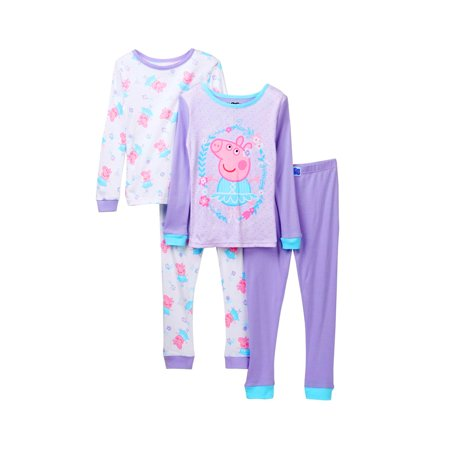Peppa Pig Baby Girls' Toddler Ballerina 4 Piece Cotton Set](Pig Outfit)