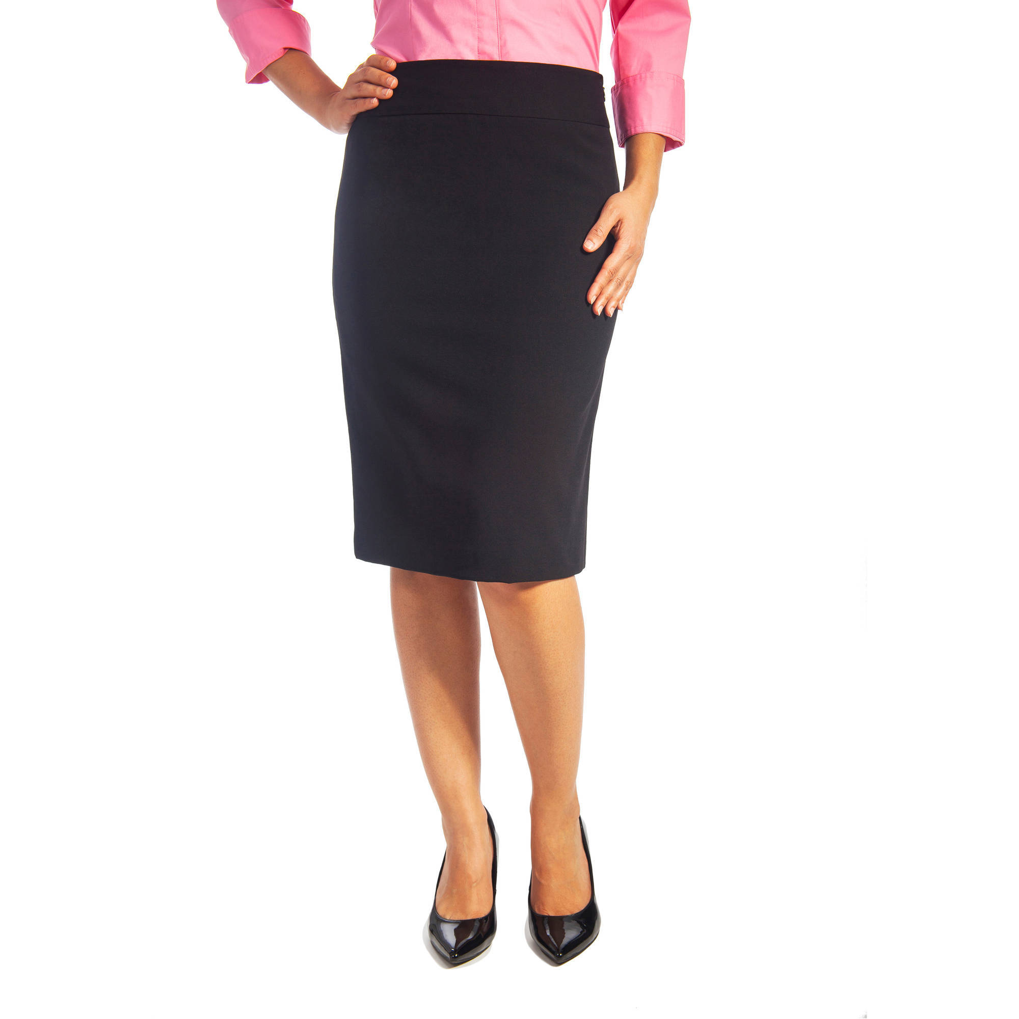Women's Plus-Size Career Suiting Pencil Skirt