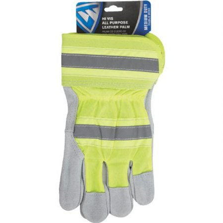 West Chester Protective Gear High Visibility Leather Work Glove