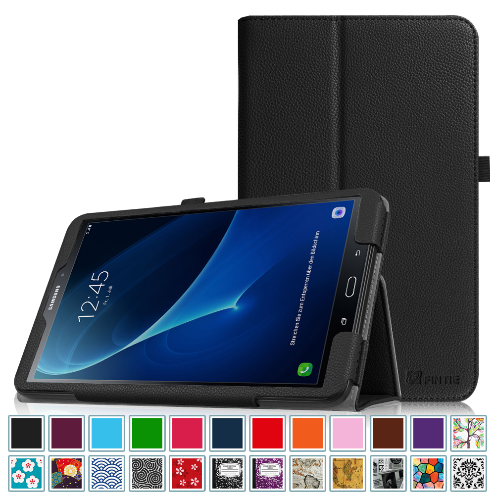 Fintie Samsung Galaxy Tab A 10.1 Tablet Folio Case -  Slim Fit PU Leather Stand Cover, Black