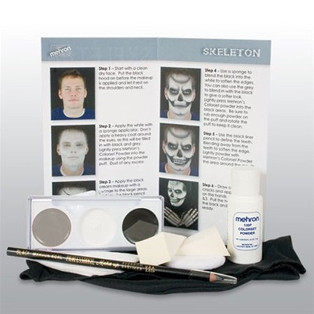 Mehron Premium Skeleton Character Kit - Easy Skeleton Makeup