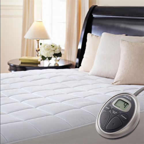 Superbe Sunbeam Premium Luxury Quilted Electric Heated Mattress Pad   Twin Size