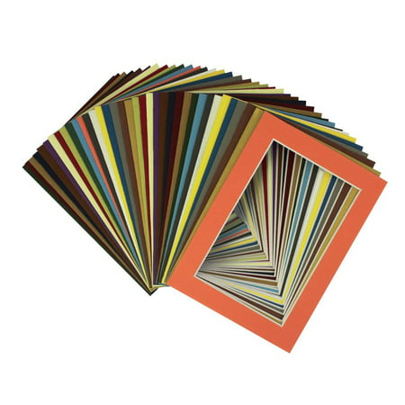 Mix Board - Mat Board Center, 11x14 Picture Mat Sets for 8x10 Photo. Includes a Pack of 25 Mats & 25  Board & 25 Clear Bags (MIX)