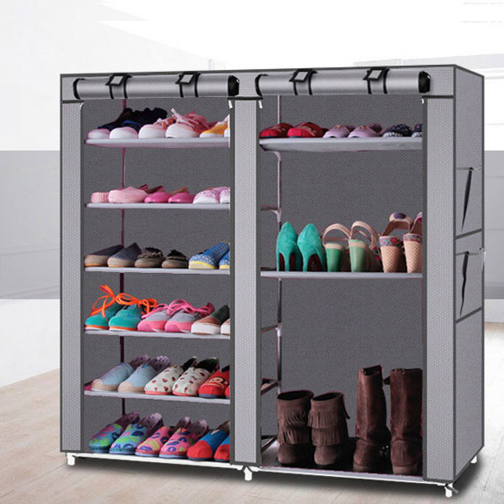 Double Row Dust Tight Shoe Cabinet Non Woven Fabrics Large Shoe Rack  Organizer Minimalist Furniture Boots Storage Shelves   Walmart.com