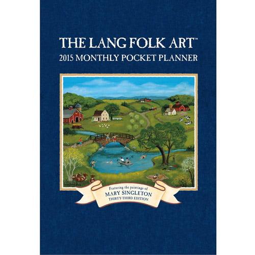"""""""Lang Folk Art"""" 2015 Monthly Pocket Planner"""