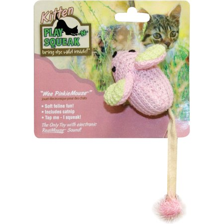 Our Pets Wee Pinkie Mouse Cat (Pink Cat Toy)