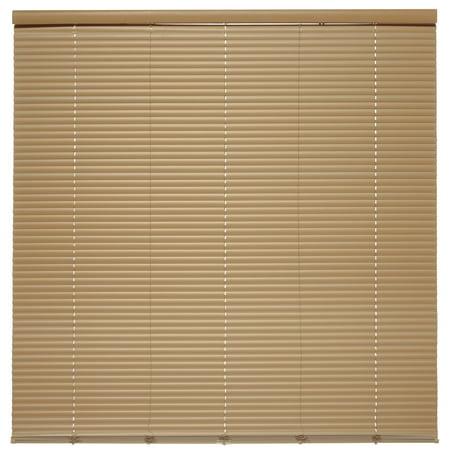 """Taupe Cordless 1 in. Duplex Room Darkening Mini Blind 25.5"""" W x 64"""" L"""