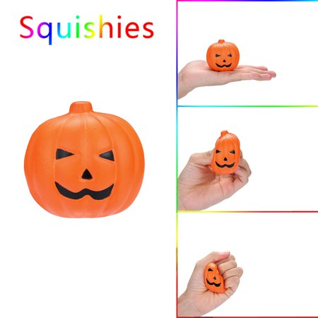Squishy Circuits Halloween (Halloween Pumpkin Scented Squishies Slow Rising Kids Toys Stress Relief)