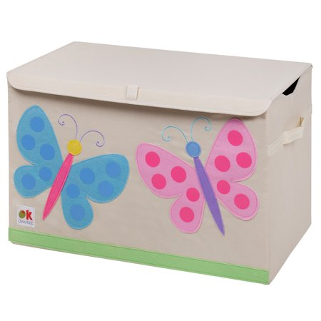 Wooden Butterfly Chest - Olive Kids Butterflies Toy Chest