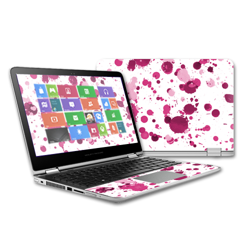 MightySkins Protective Vinyl Skin Decal for HP Pavilion x360 - 13 (2015) Touch Laptop case wrap cover sticker skins Pink Drops