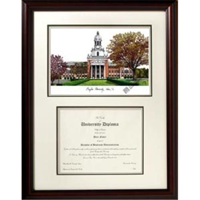 Campus Images TX955V Baylor University Scholar Framed Lithograph with Diploma