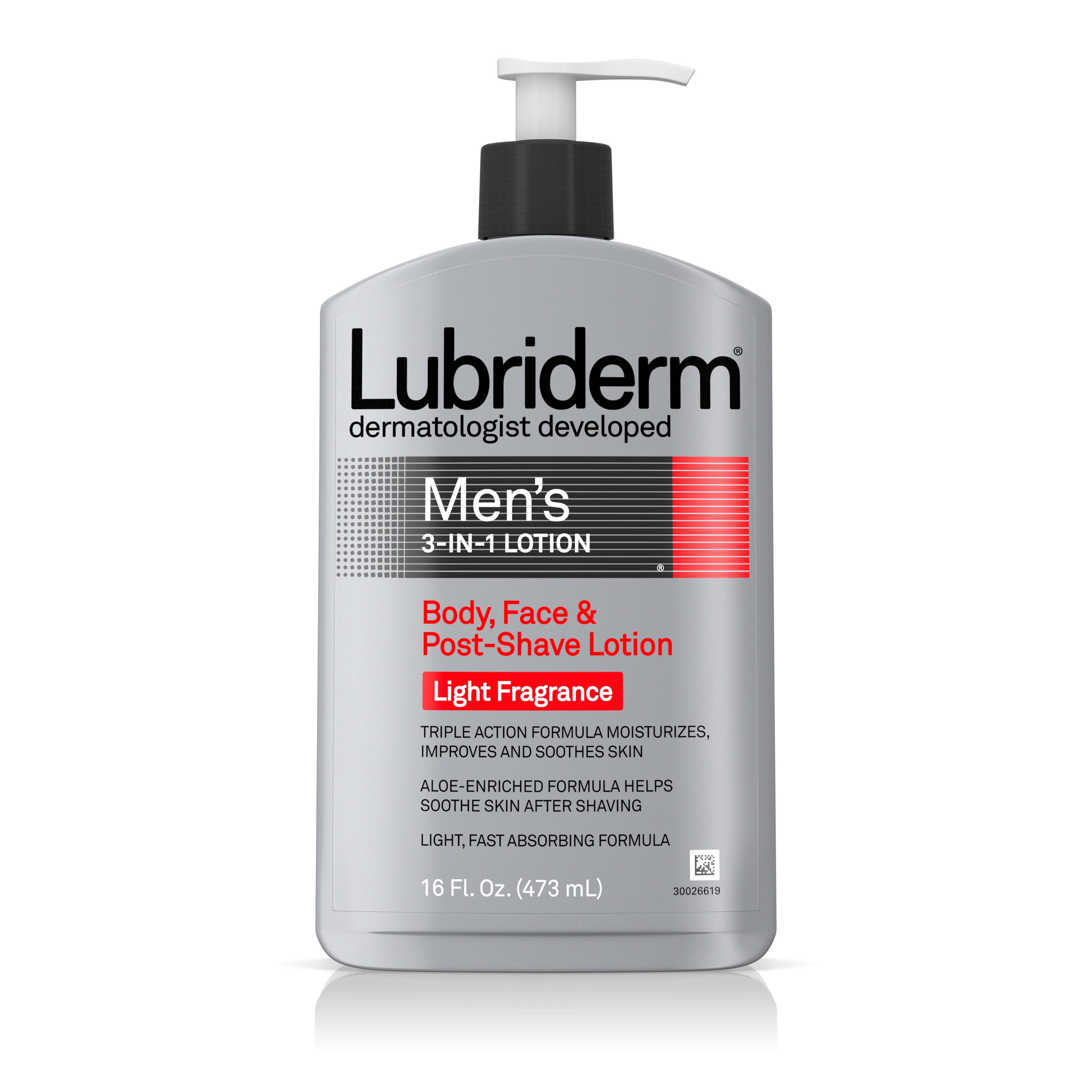Lubriderm Men's 3-In-1 Moisturizing Lotion with Aloe, 16 fl. oz