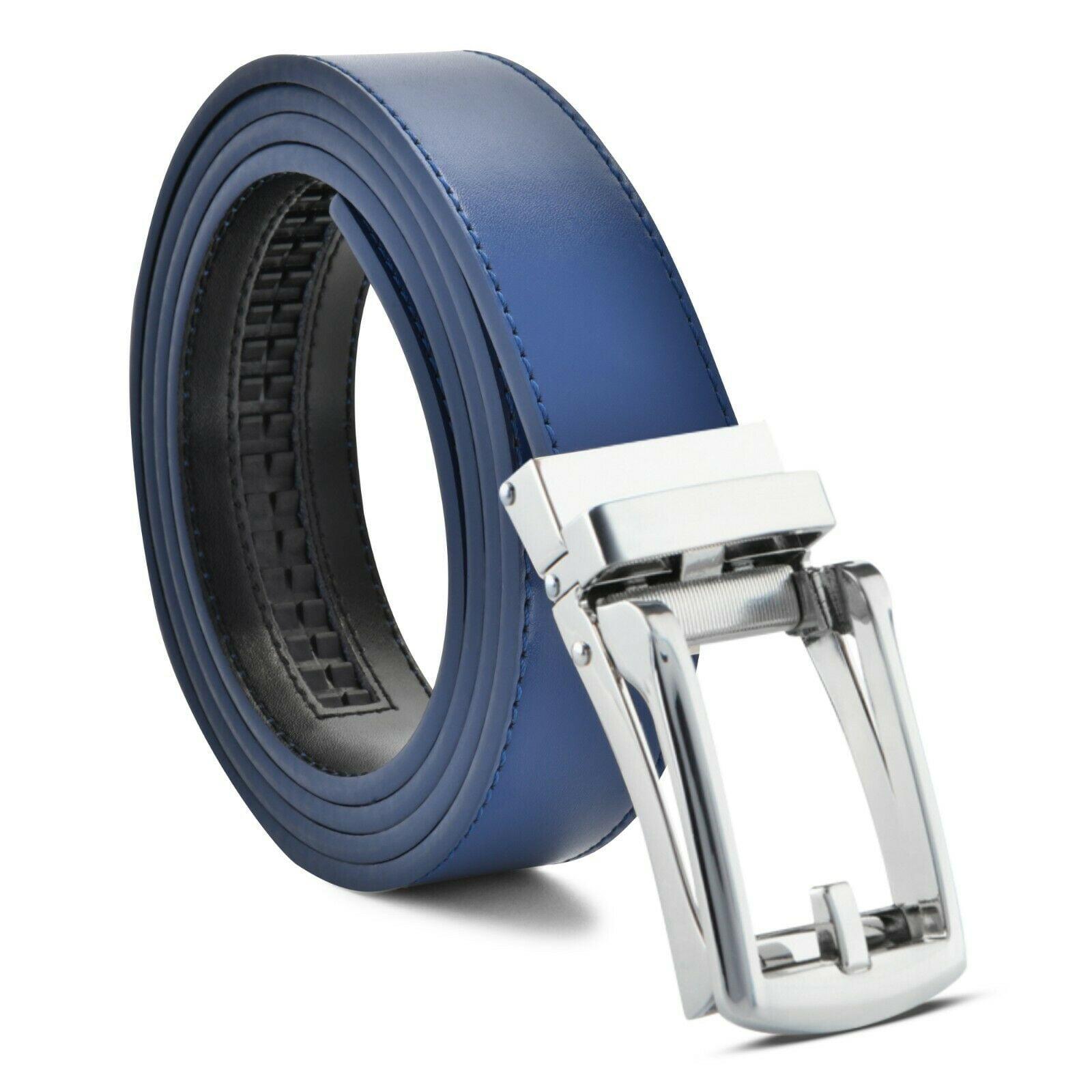 "Men/'s Click Comfort Dress Belt Automatic Lock New Buckle up to 53/"" LIN"