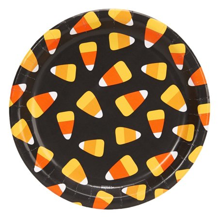 Happy Halloween Candy Corn 9Inches Dinner Plates (8 Count) - Happy Halloween Nascar