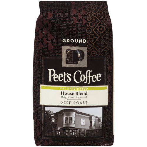 Peet's Coffee Deep Roast Decaffeinated House Blend Ground Coffee, 12 oz
