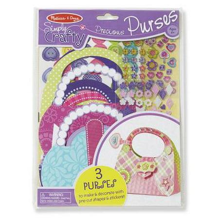 Melissa & Doug Simply Crafty Precious Purses Craft Kit (Makes 3