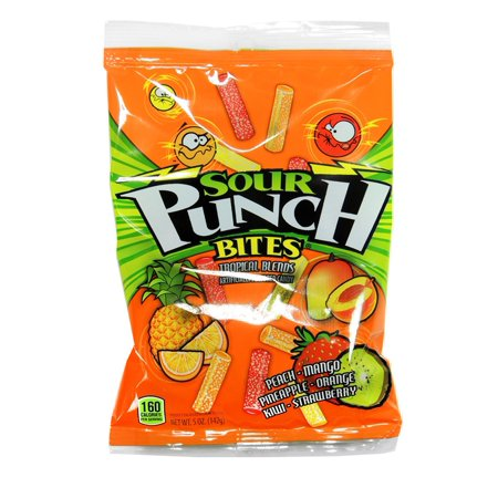 Product Of Sour Punch, Tropical Bites, Ct 12 (5 Oz) - Sugar Candy / Grab Varieties & Flavors for $<!---->