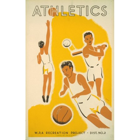 Beard WPA Athletics 1939 Stretched Canvas -  (18 x