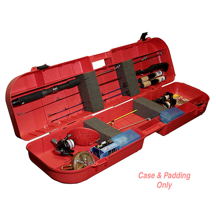 MTM Ice Fishing Rod Box Red by MTM