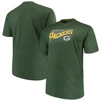 Men's Majestic Green Green Bay Packers Big & Tall Royal Domination Malt T-Shirt