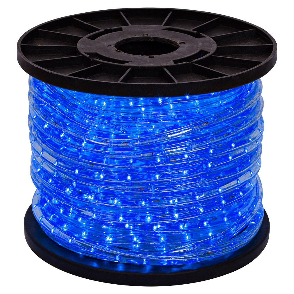 150' Blue 2-Wire LED Rope Light Flexible Home Outdoor Christmas Decorative 110V
